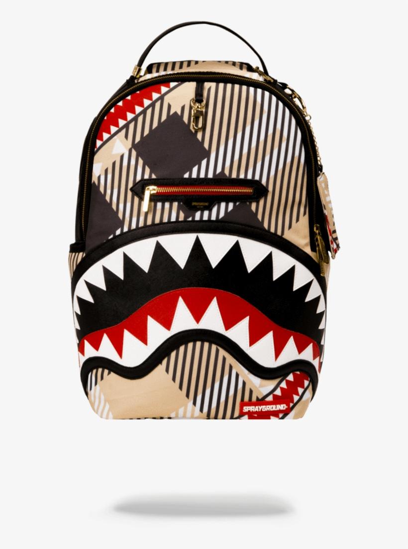 Sprayground- Sharks In London Backpack - Sprayground Money Shark Backpack - Black, transparent png #4968155