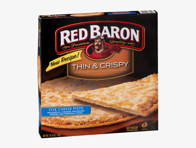 Red Baron Rising Crust Pizza, Pepperoni - 19.33 Oz, transparent png #4968393