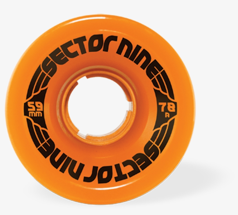 Sector 9 Nine Balls 59mm 78a/ Orange - Sector 9 9 Ball 78a Orange 59mm Wheels (4 Wheel Set), transparent png #4973550