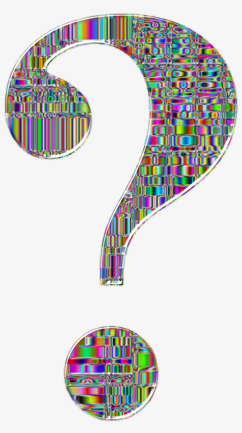 Question mark fancy. Big image transparent background