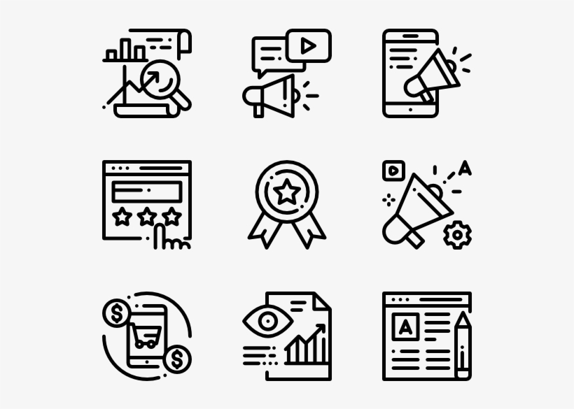 digital marketing design vector icon free transparent png download pngkey digital marketing design vector icon