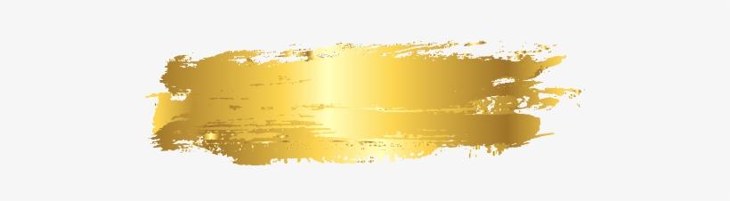 Brushstroke Stroke Strokes Goldenstroke Paint Foil - Png Gold Paint Brush Stroke, transparent png #4994037