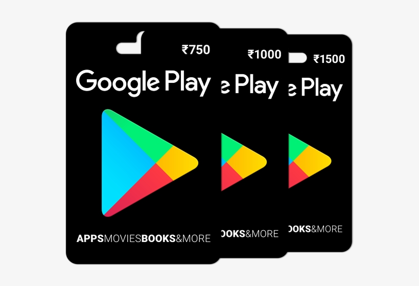 Google Play Gift Card Rs - Google Play Card Png, transparent png #4996737