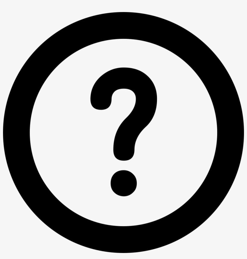 Ask A Question Mark Comments - Transparent Question Mark Icon, transparent png #4997166