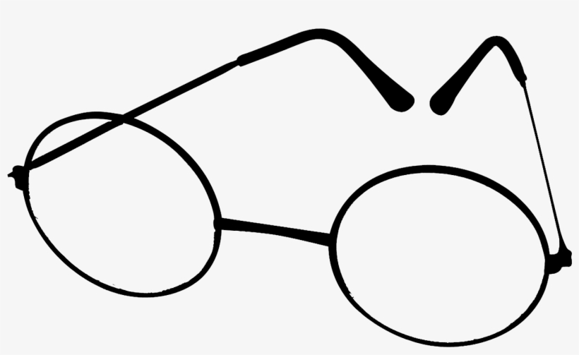 Drawn Spectacles Transparent - Harry Potter Glasses, transparent png #50183
