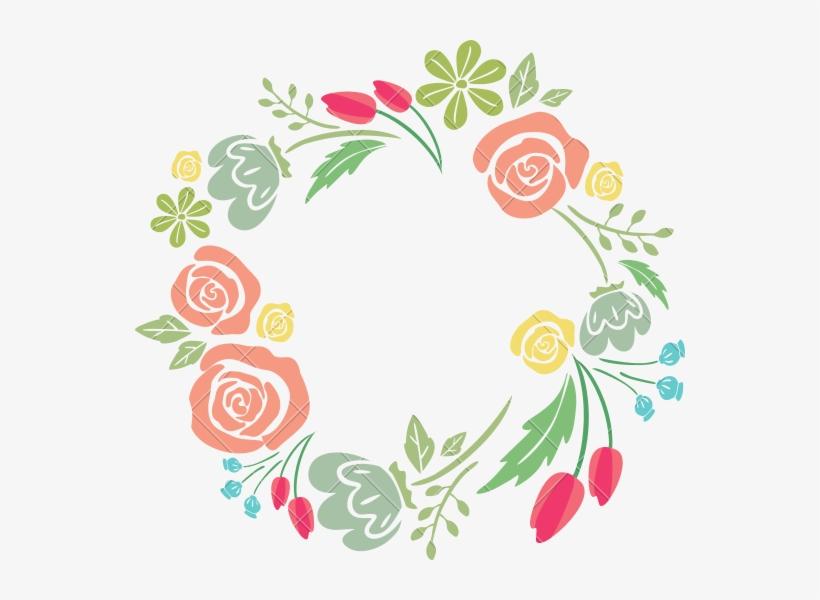 Flower Photography Graphic Design - Floral Circle Border Design Png, transparent png #50415