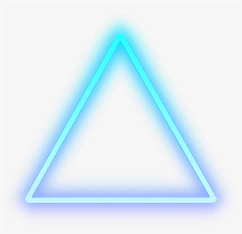 Triangle Blue Glow Light Shape Cool - Neon Png For Picsart - Free