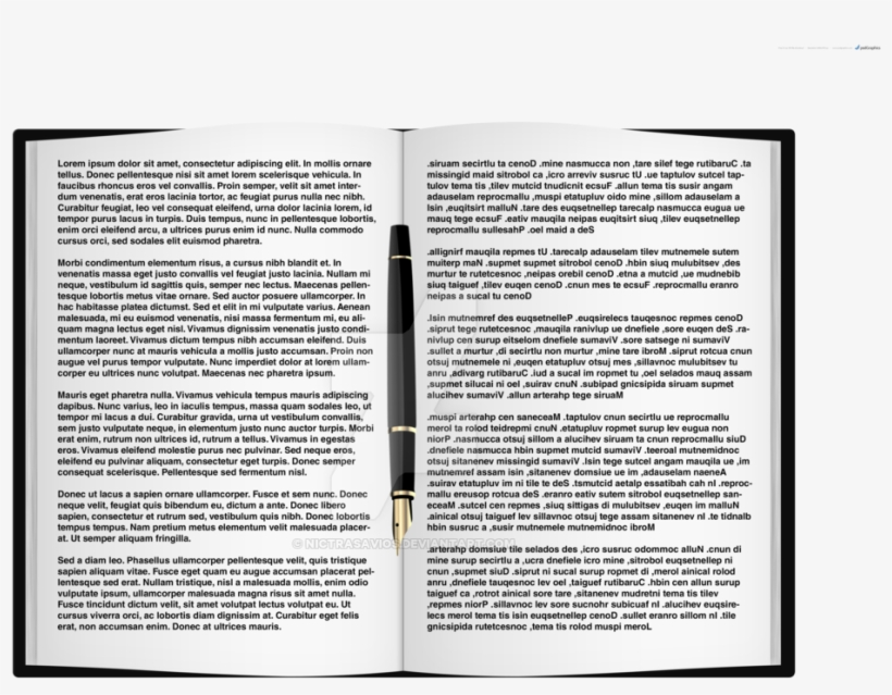 Open Book By Nictrasavios On Deviantart Picture Freeuse - Books Top View Png, transparent png #50696