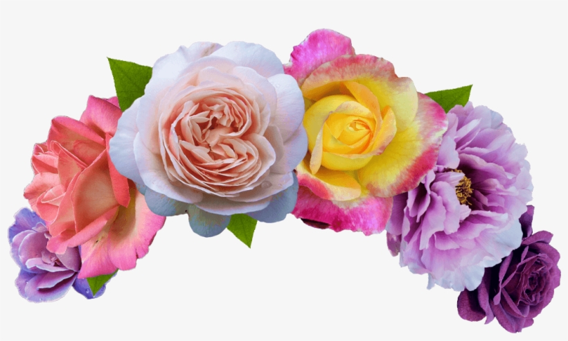 Flowers Crown Png Banner - Head Flower Crown Png, transparent png #50716