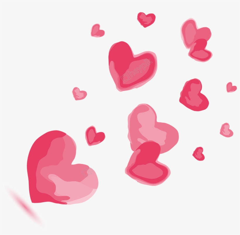 Download Hand Painted Watercolor Pink Love Decoration Vector - 浪漫 ...