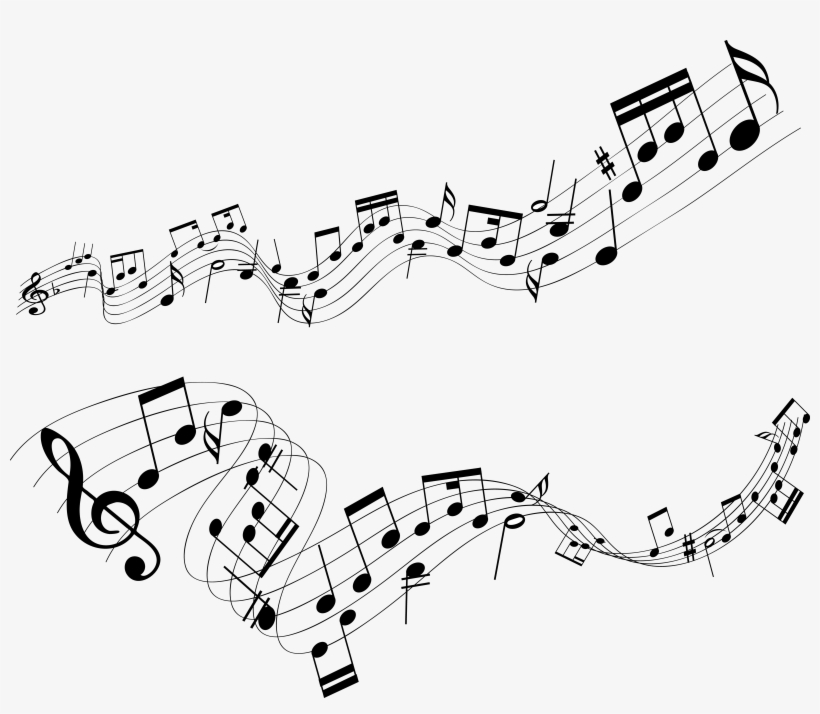 Wallpaper Wiki Music Note Photo Free Download - Music Notes High Resolution, transparent png #51197