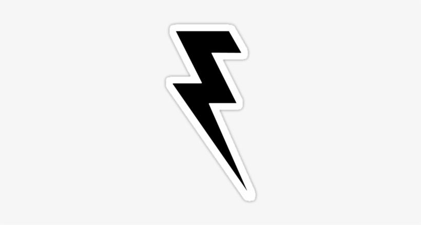 """Black And White Lightning Bolt"""" Stickers By Gamebantz - Killers Lightning Bolt Logo, transparent png #51547"""