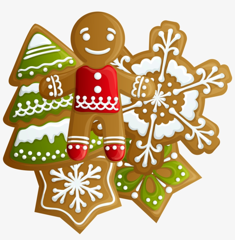 Transparent Christmas Gingerbread And Png - Free Christmas Cookies Clip Art, transparent png #52029
