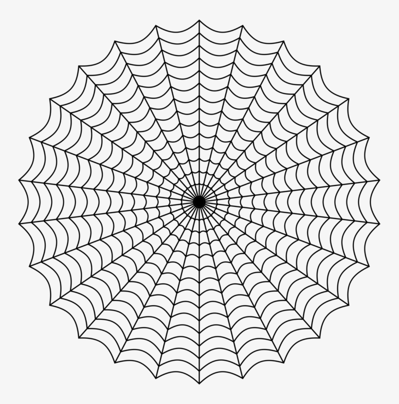 Web Of Spider-man Spider Web Drawing - Spiderman Web Png, transparent png #52555