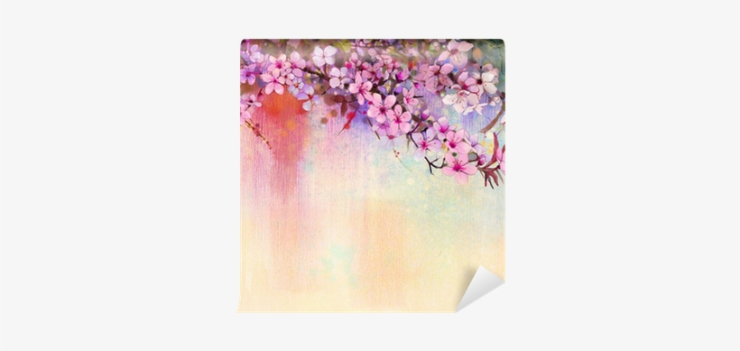 Watercolor Painting Cherry Blossoms - Designart 'watercolor Painting Cherry Blossoms' Painting, transparent png #52835