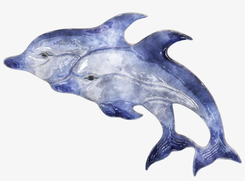 Jpg Download Dolphin By Lavandalu On Deviantart - Watercolor Animal Clipart Transparent, transparent png #53211