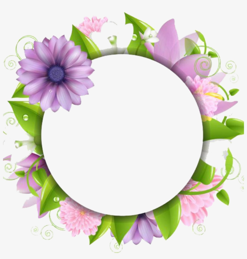 Flower Border Png Download Flowers Borders Free Photo - Flower Designs For Borders, transparent png #53387
