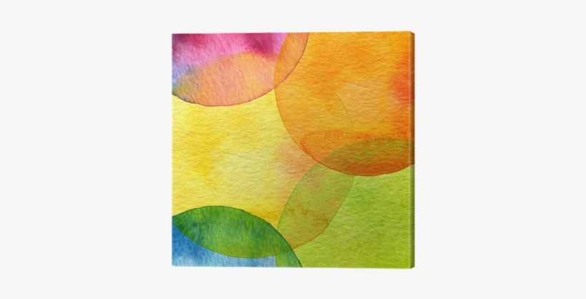 Abstract Watercolor Circle Painted Background Canvas - Watercolor Painting, transparent png #53612