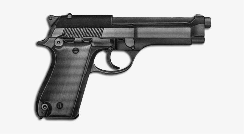 Png Image Hand Gun - Pistol, transparent png #53866