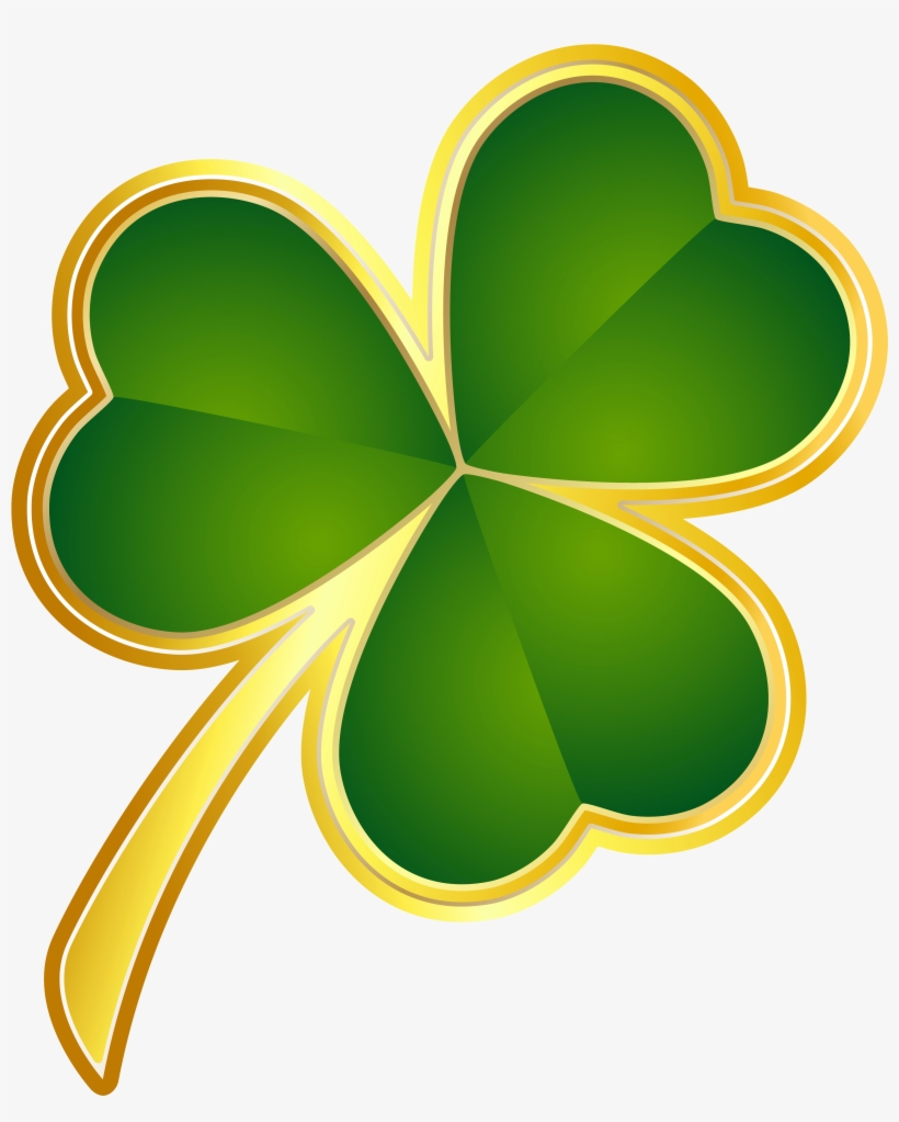 St Patricks Day Gold Shamrock Png Clipart - St Patrick's Day Clip Art, transparent png #54183