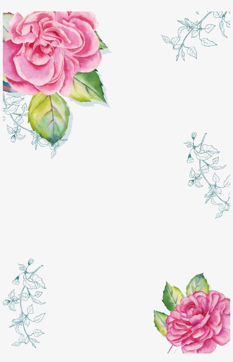 Watercolor Painting Poster Download - Watercolor Transparent Flower Border, transparent png #54554