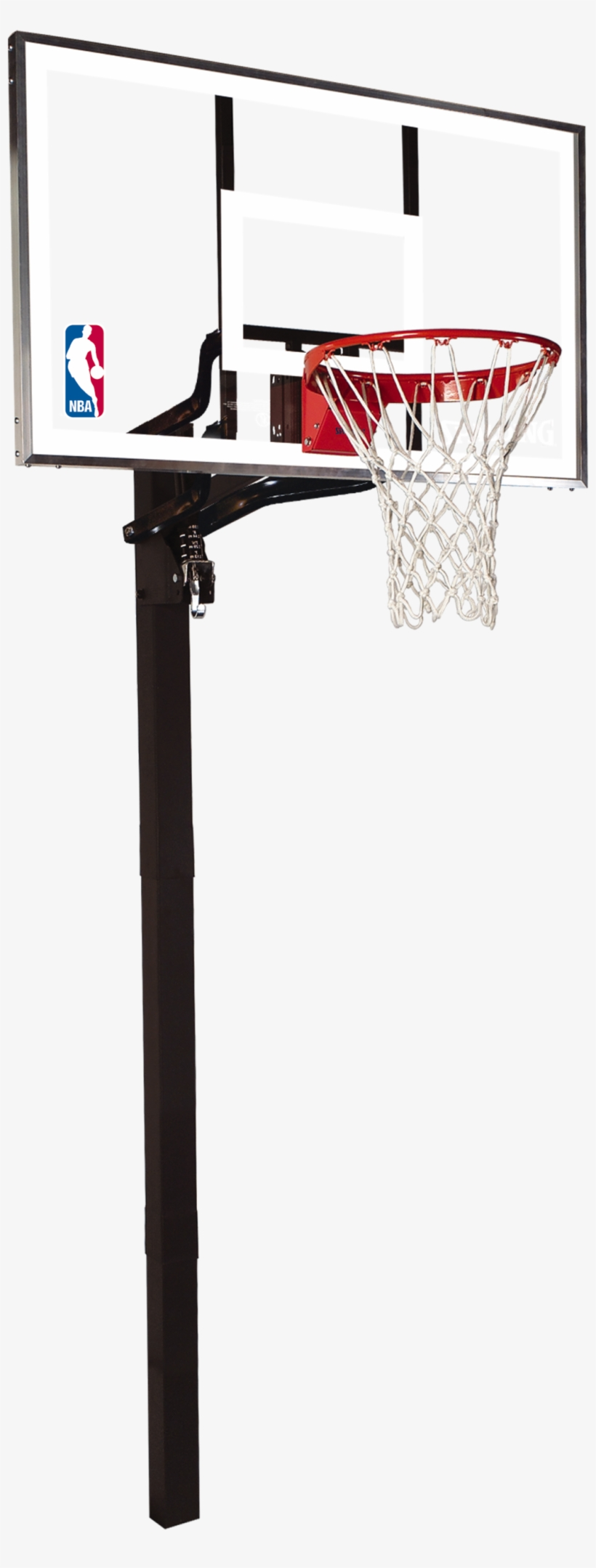 "Spalding 54"" Glass In-ground Basketball Hoop - 60 Inch Spalding Basketball Hoop, transparent png #54659"