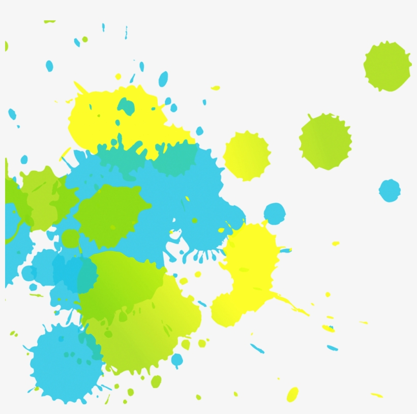 Watercolor Splash Png Img - Yellow Blue Paint Splash Png, transparent png #54690
