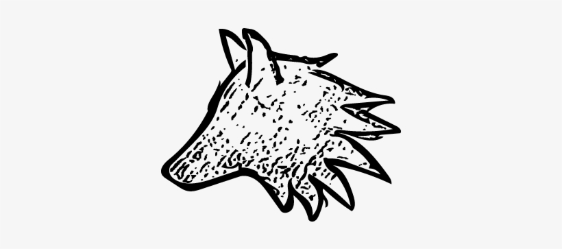 Small Wolf - Drawing Of A Wolf Small, transparent png #54852