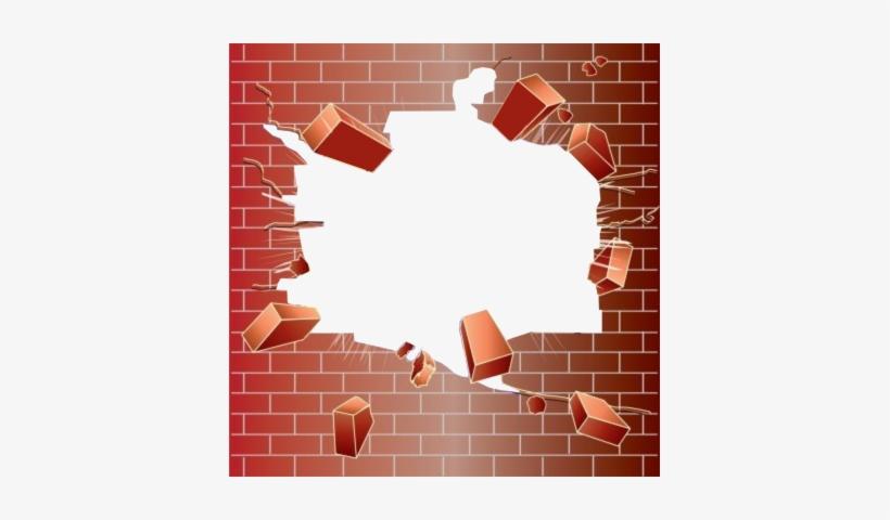 Broken Brick Png Transparent - Broken Brick Wall Png, transparent png #56276