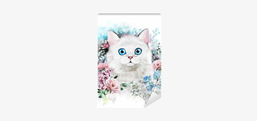 Watercolor Cat Illustration - Pinturas De Acuarela De Gato, transparent png #56481