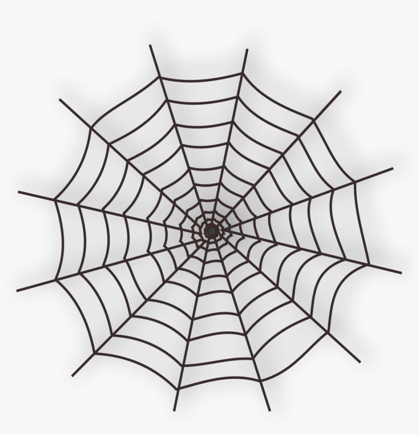 The Icons Of The Halloween Spider Web - Spider Web Tattoo Png, transparent png #56798