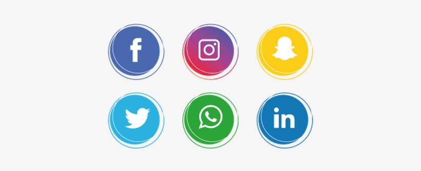 Social Media Logos Vector Free Download » 4k Pictures - Social Media Icons Png, transparent png #56910