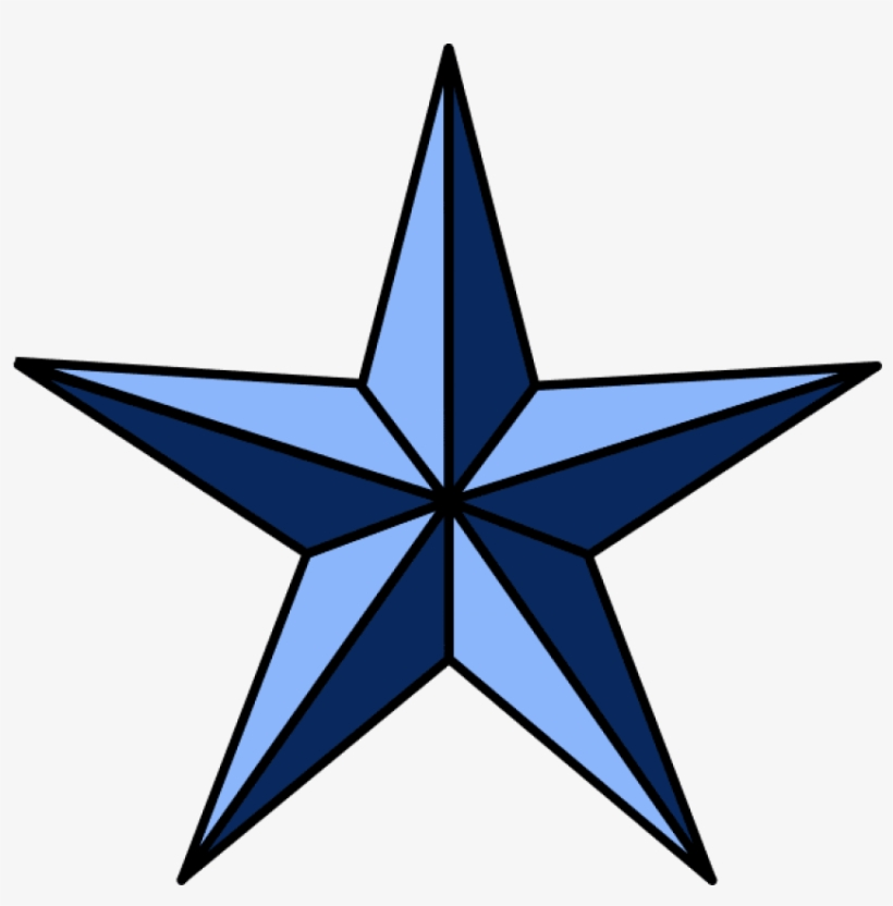 Nautical Star Tattoos Png Pic - Nautical Star Clip Art, transparent png #58008