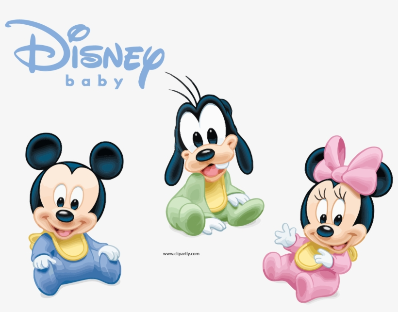 Disney Babies Disney Baby Together Clipart Png - Imagenes De Minnie Mickey Bebe, transparent png #58263