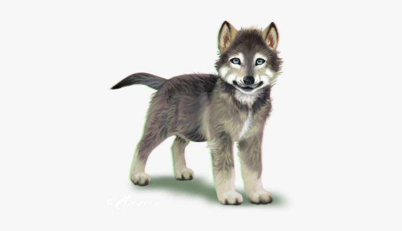 Wolf pup. Png transparent clip art