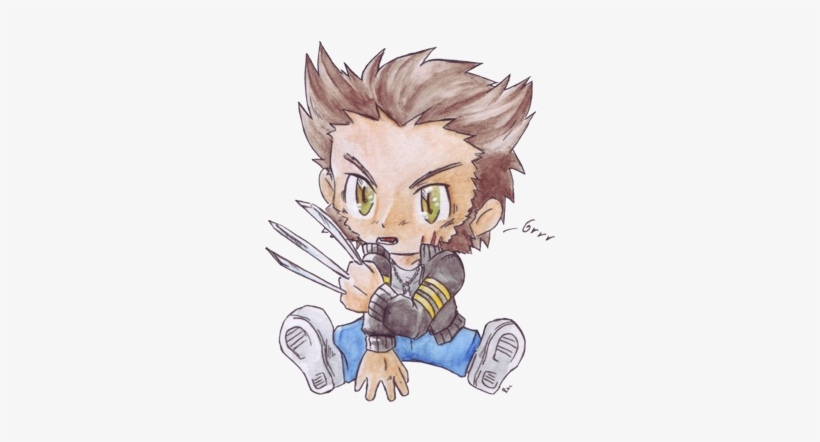 Cutest Baby Of All- Wolverine <3 - Chibi Wolverine, transparent png #58873