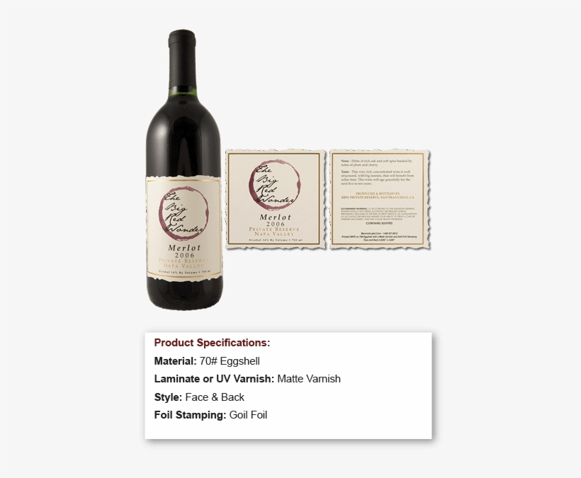 Red Watercolor Circle On Eggshell Ripped Edge Square - Wine Bottle, transparent png #58986