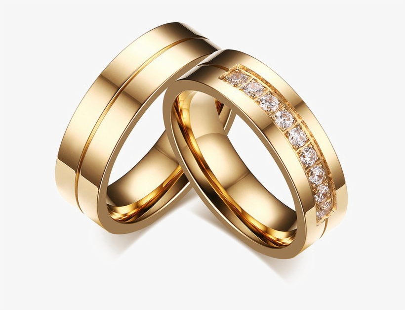 Wedding Ring Png Image Engagement Couple Rings Gold Free