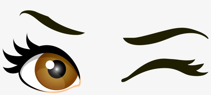 Brown Winking Eyes Png Clip Art - Wink Eye Png, transparent png #59377