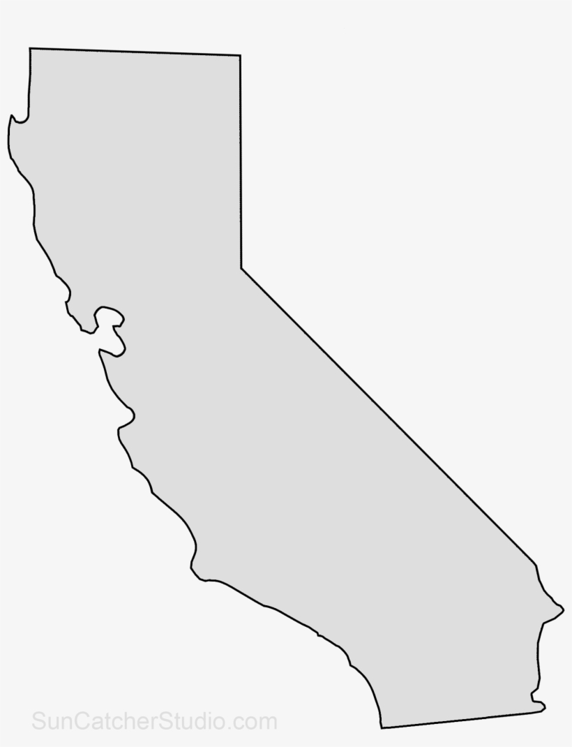 California Map Outline Png Shape State Stencil Clip California