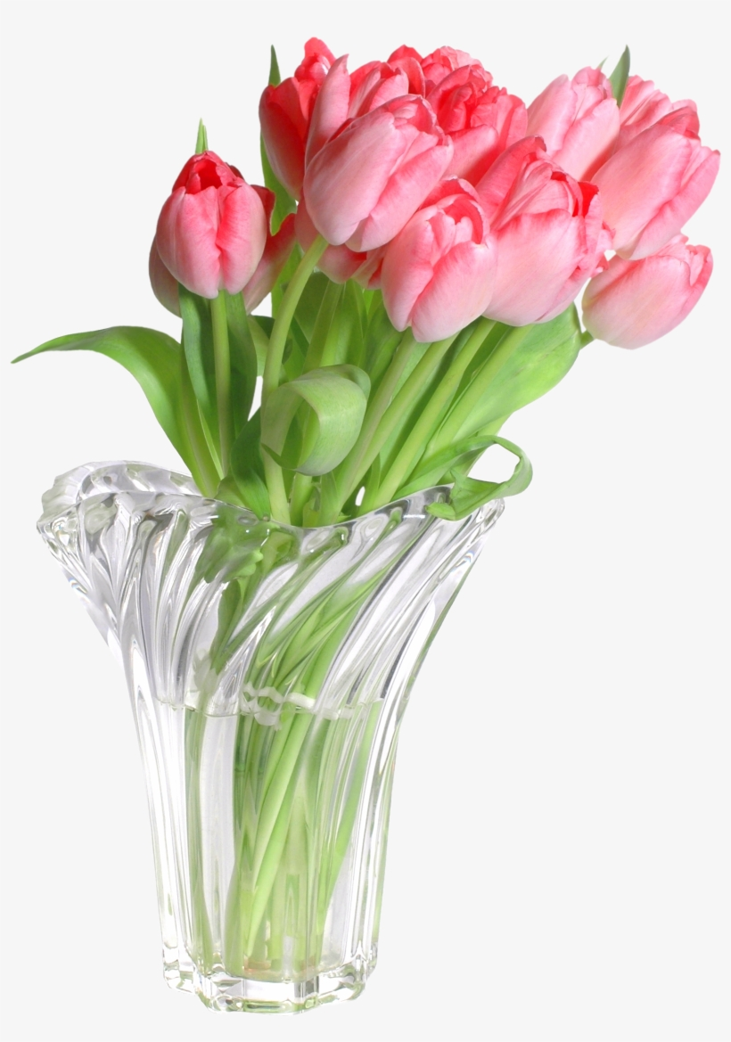 Pink Tulips In Vase Png Clip Art Image Gallery - Pink Flowers In Vase Png, transparent png #502837