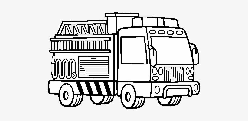 A Fire Truck Coloring Page Camion De Bomberos Para Colorear