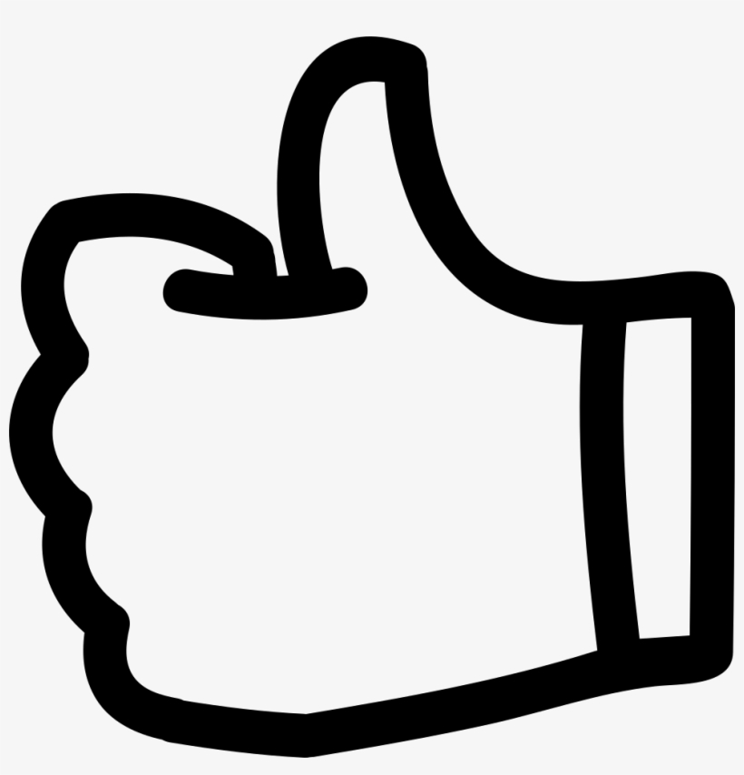 Like Thumb Up Hand Drawn Symbol Outline Comments - Free Icon Thumbs Up, transparent png #503764