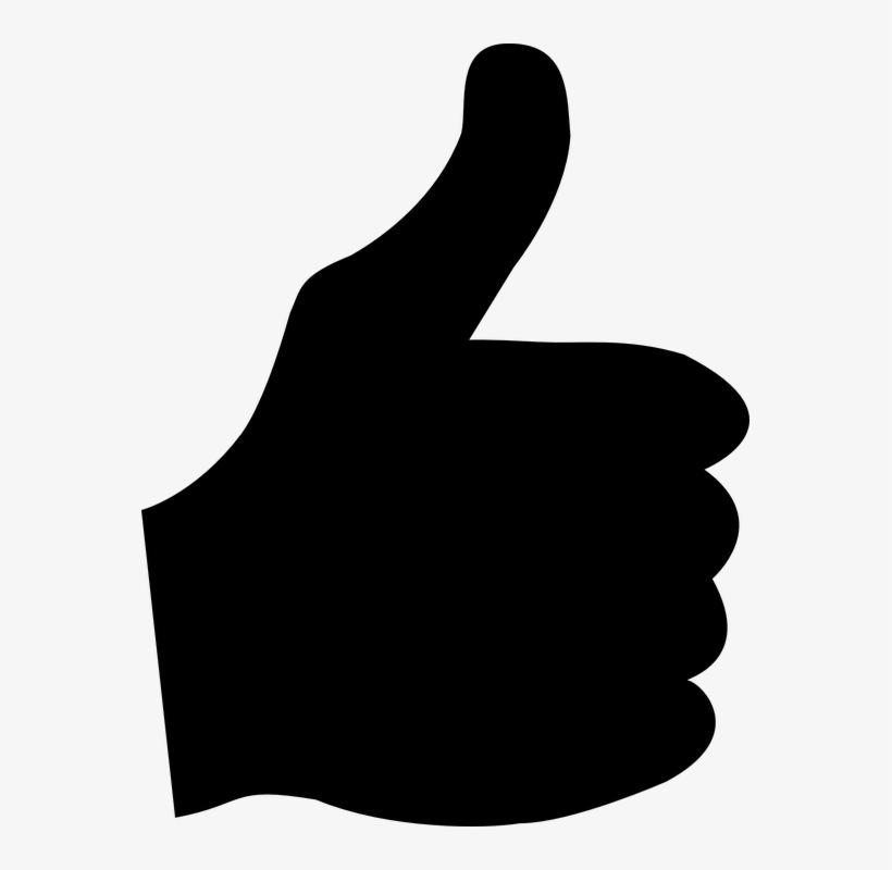 Thumb - Thumbs Up Silhouette Png, transparent png #503822