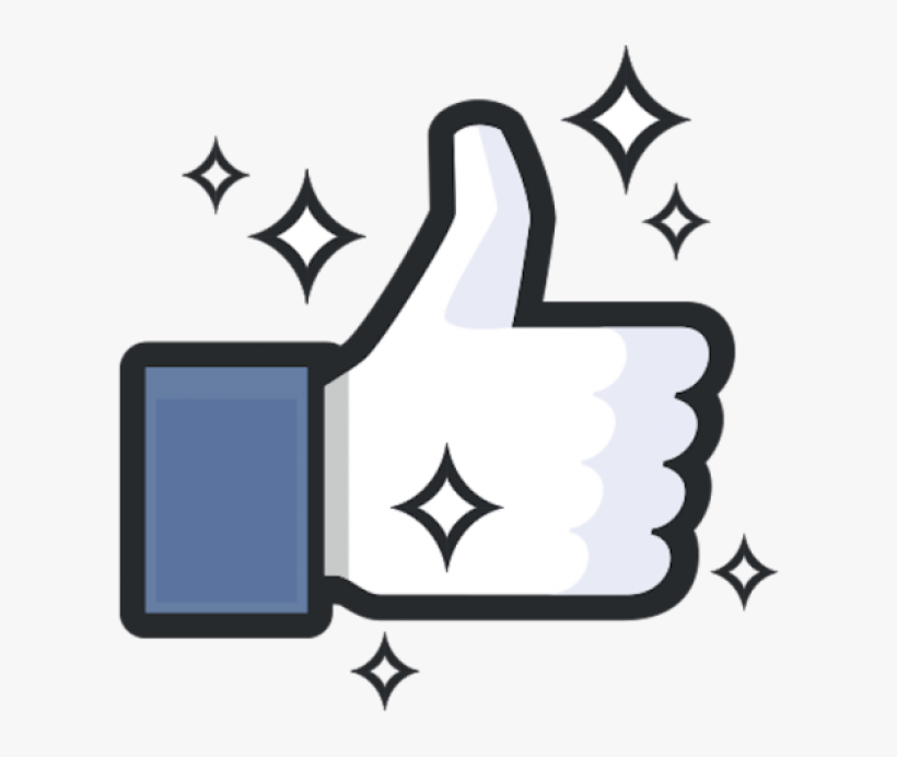 Free Facebook Like Thumb Png - Facebook, transparent png #503943