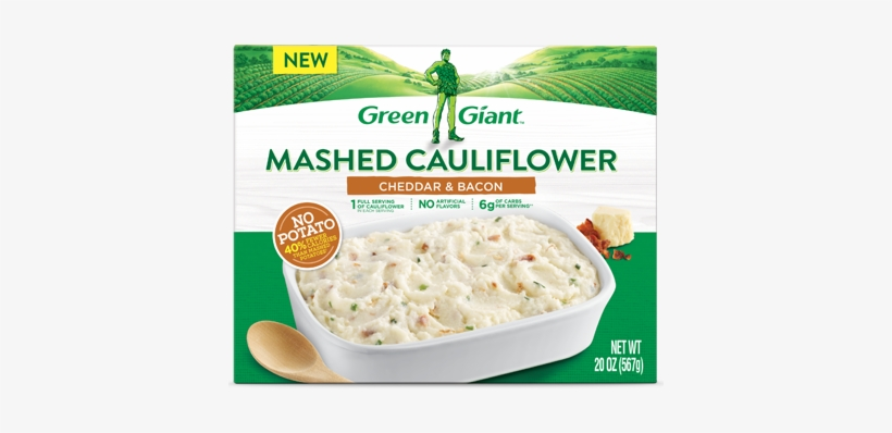Product 1039product 1038gg Mashed Cauliflower Cheddar - Green Giant Cauliflower Mashed Potatoes, transparent png #504067