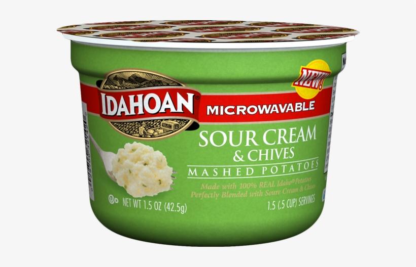 17 0213 Sour Cream Mashed Cup - Idahoan Foods Idahoan Sour Cream & Chive Potato, transparent png #504174