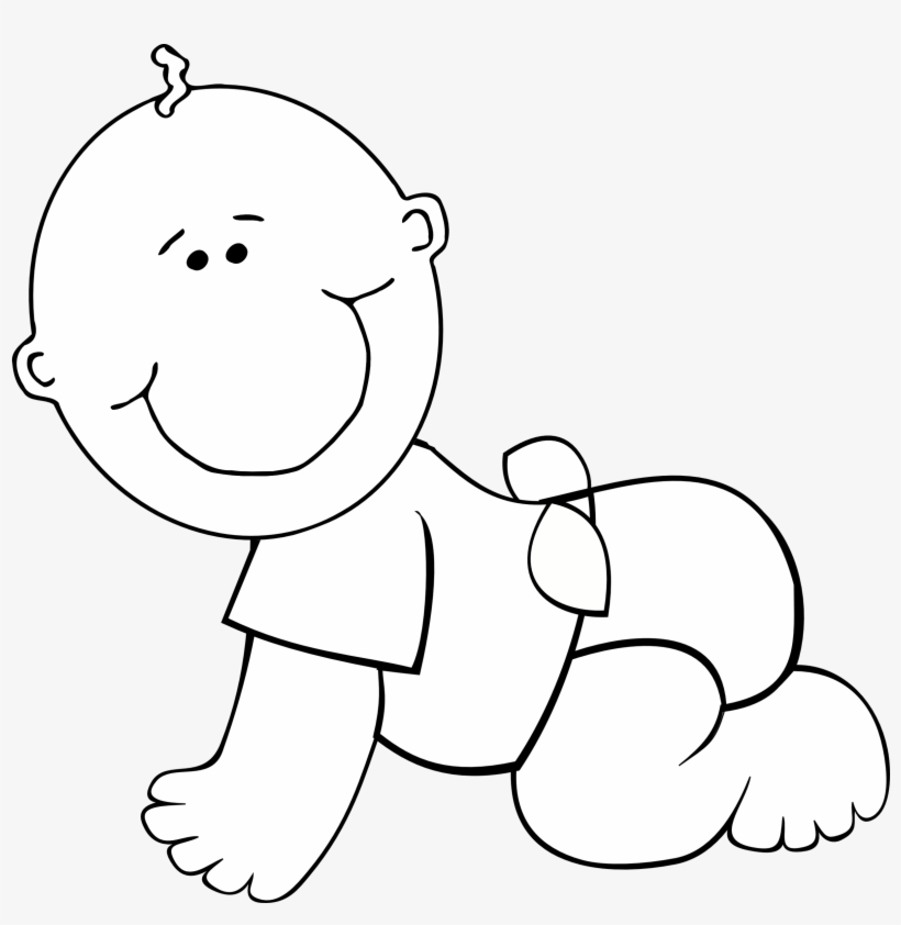 Baby Boy Clipart Black And White - Baby Clipart Black And ...