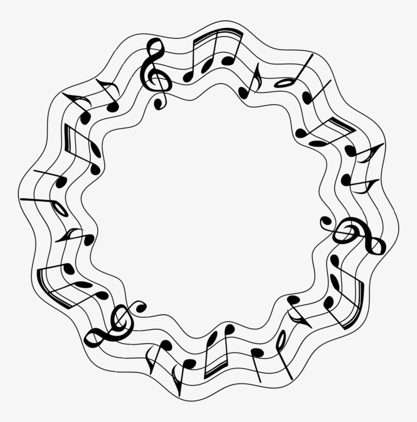 Musical Note Sound Circle Clef Free Commercial Clipart - Musical Notes Circle Png, transparent png #506402