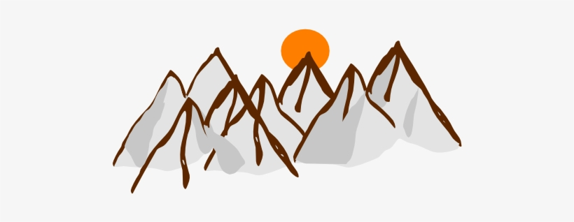 Clip Arts Related To - Range Of Mountains Clip Art, transparent png #506463